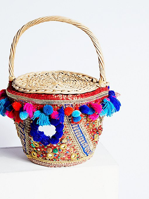 Product Image: Embellished Straw Basket