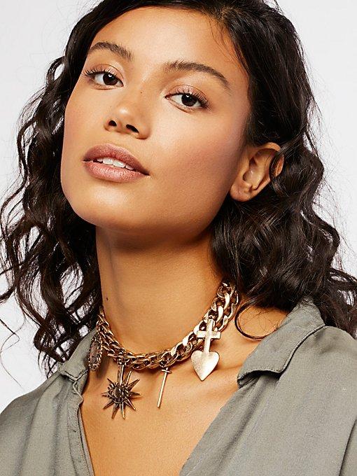 Product Image: Biker Chain Charm Hi-Collar