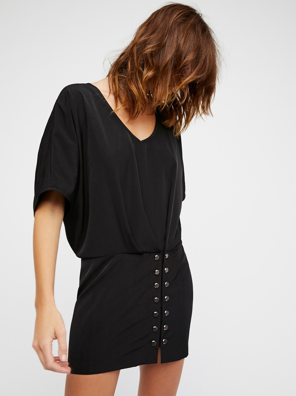 gauge black evening dress
