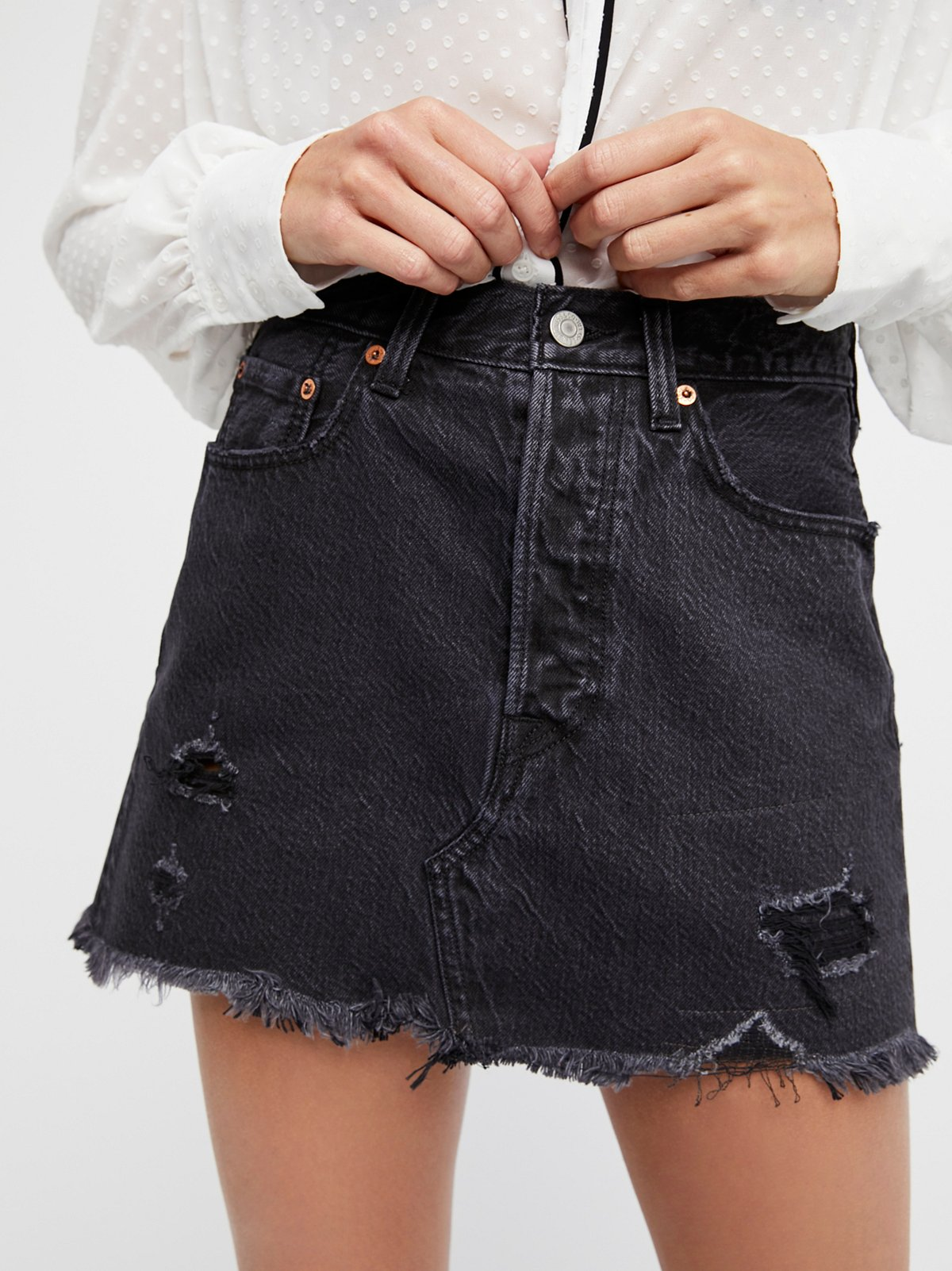 Deconstructed Denim Skirt