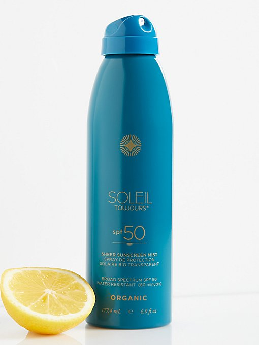 Product Image: Organic Sheer Sunscreen Mist SPF 50