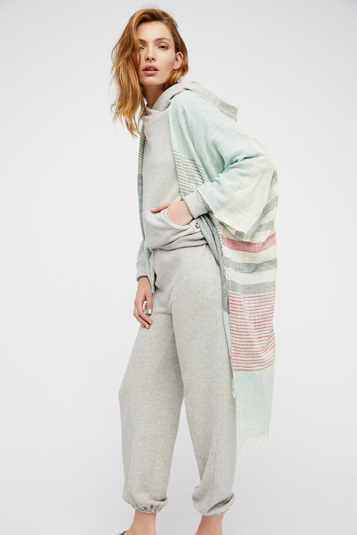 Mystique Shimmer Stripe Kimono