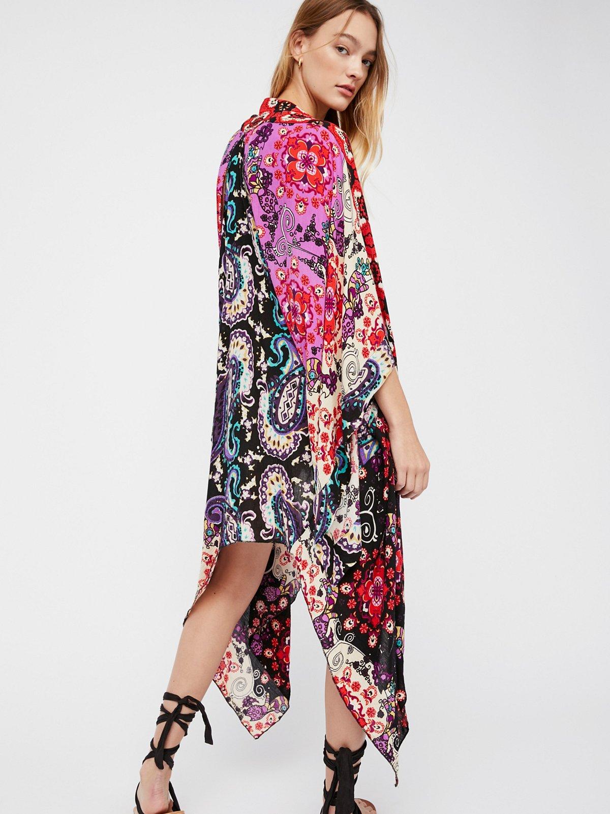 Little Wing Mix Print Kimono