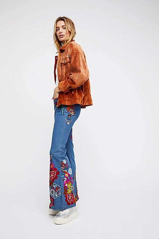 Product Image: Flower Child Denim Flares