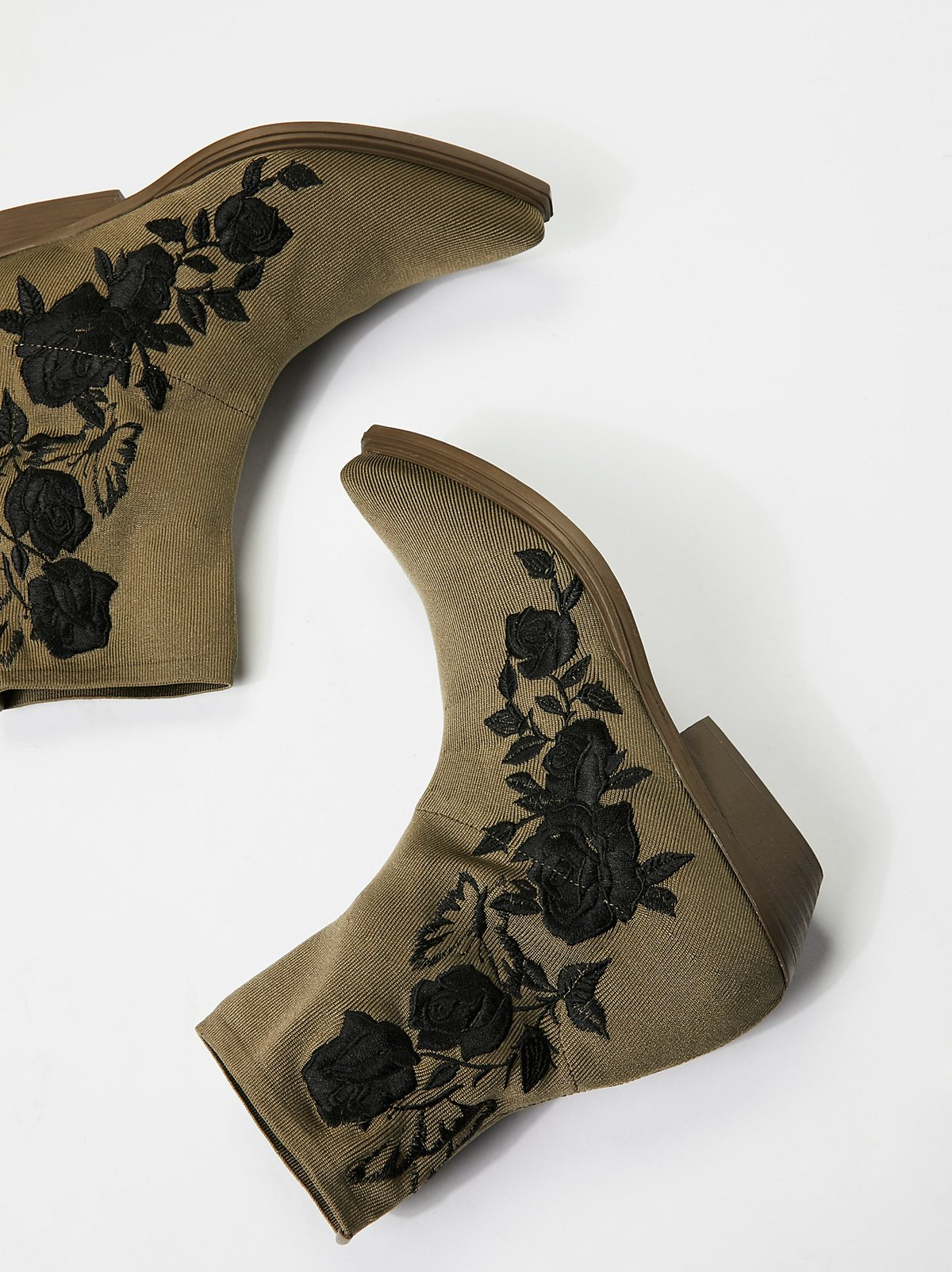 Black Roses Ankle Boot