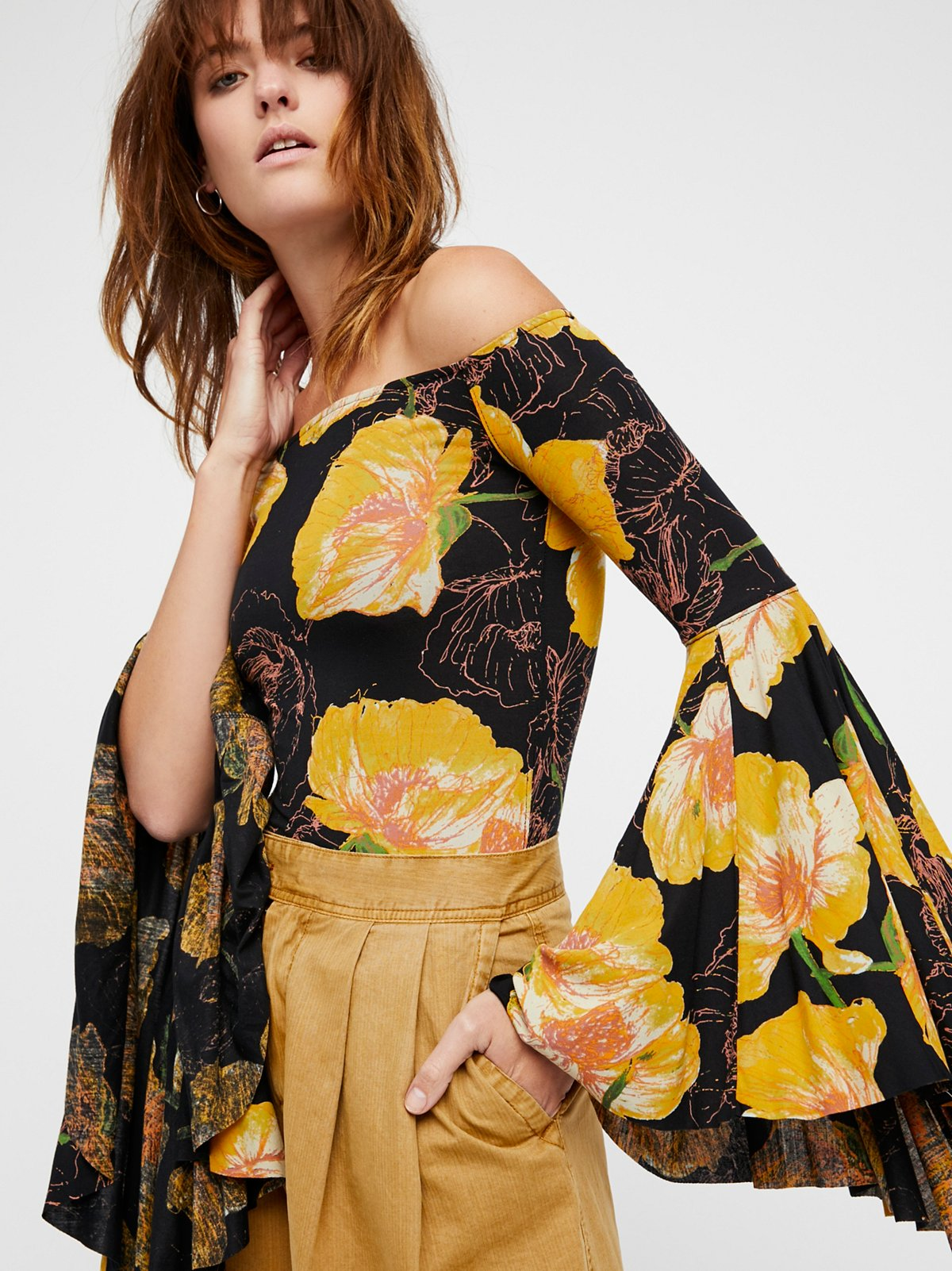 We The Free Printed Birds Of Paradise Top