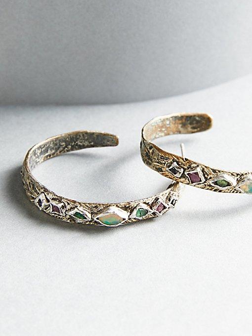 Product Image: Rain Free Sapphire x Opal Hoops