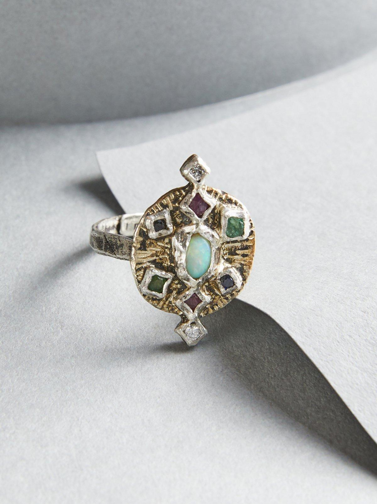 Rain Free Diamond x Sapphire Mix Ring