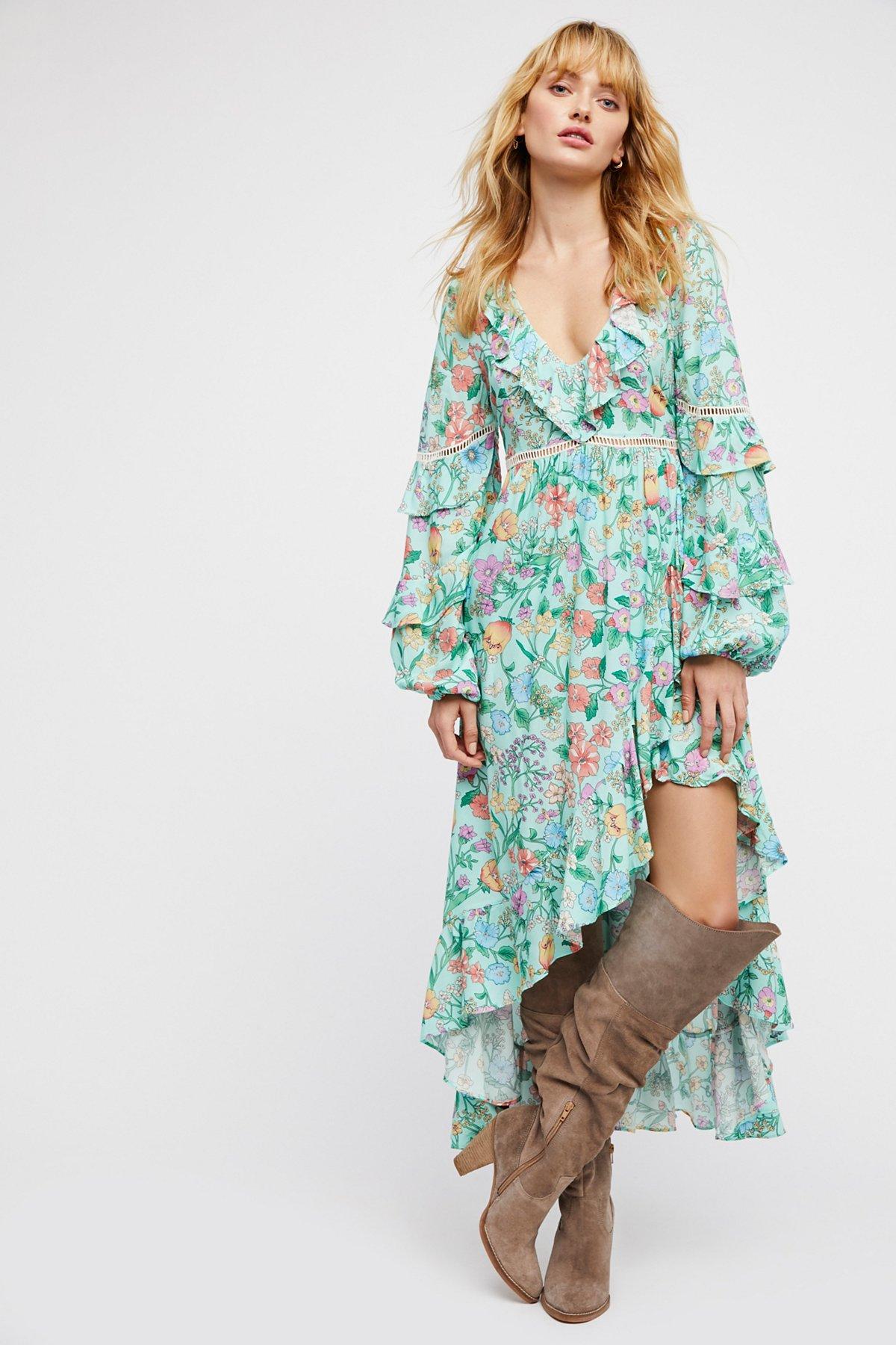 Sayulita Frill Gown