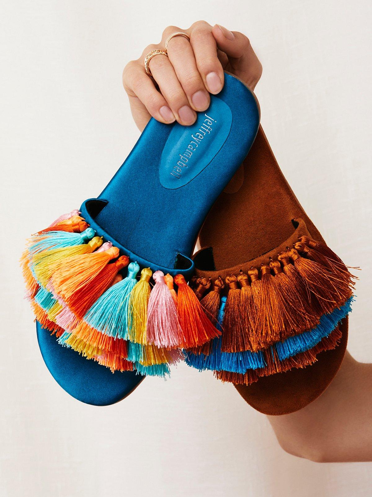 Watercolor Tassel Sandal