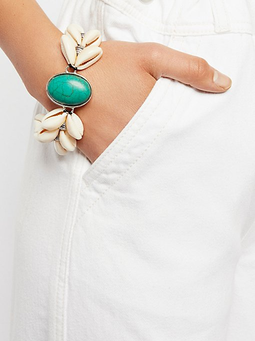Product Image: By The Sea Shell Turquoise Bracelet
