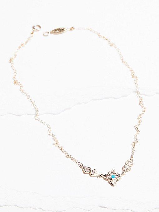 Product Image: 14k Radiance蓝宝石绿松石项链