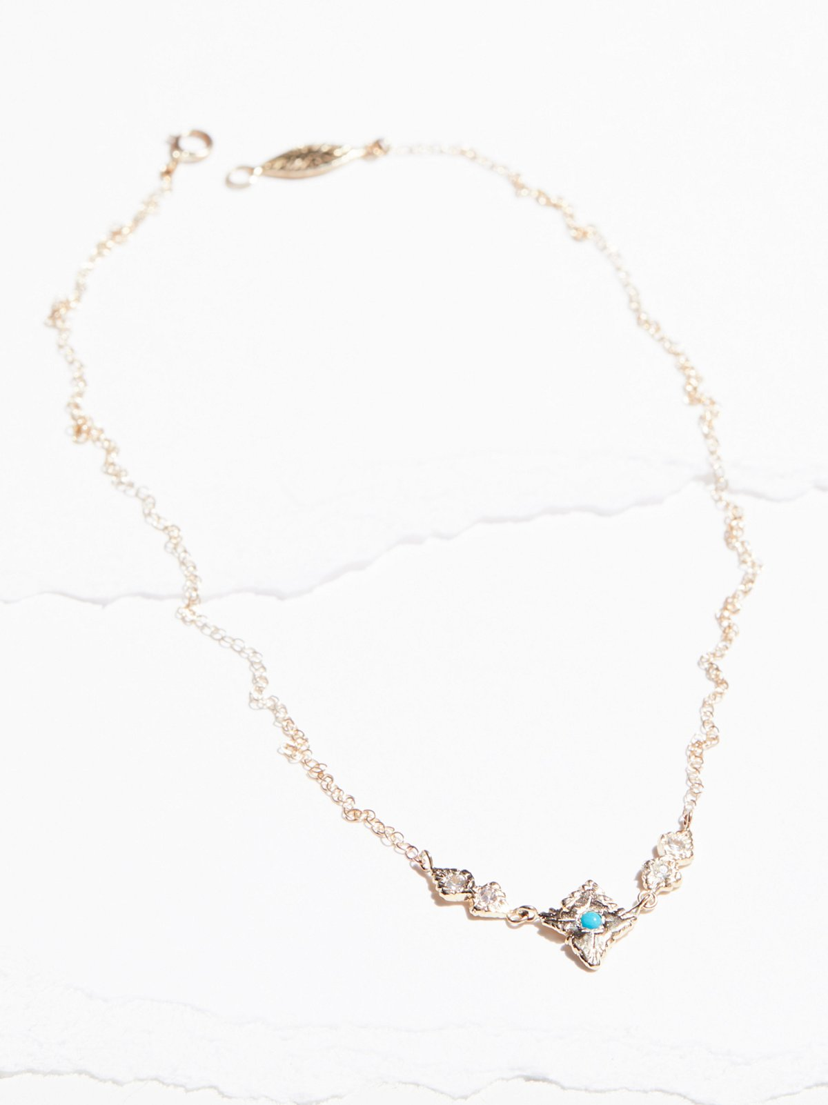 14k Radiance Sapphire Turquoise Necklace