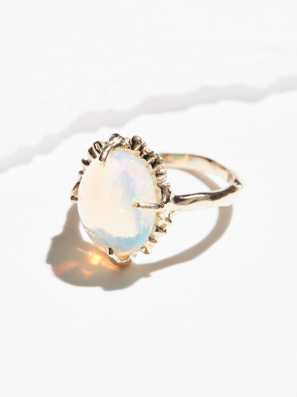 14k Magical Opal Guardian Ring