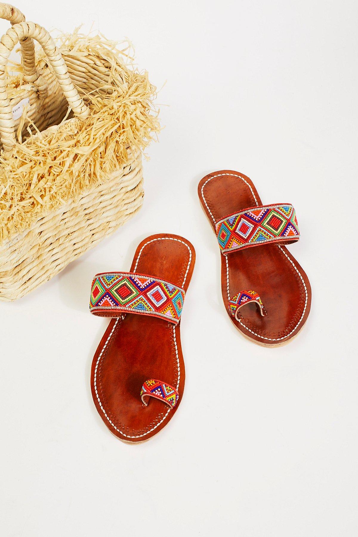 Santorini Beaded Sandal