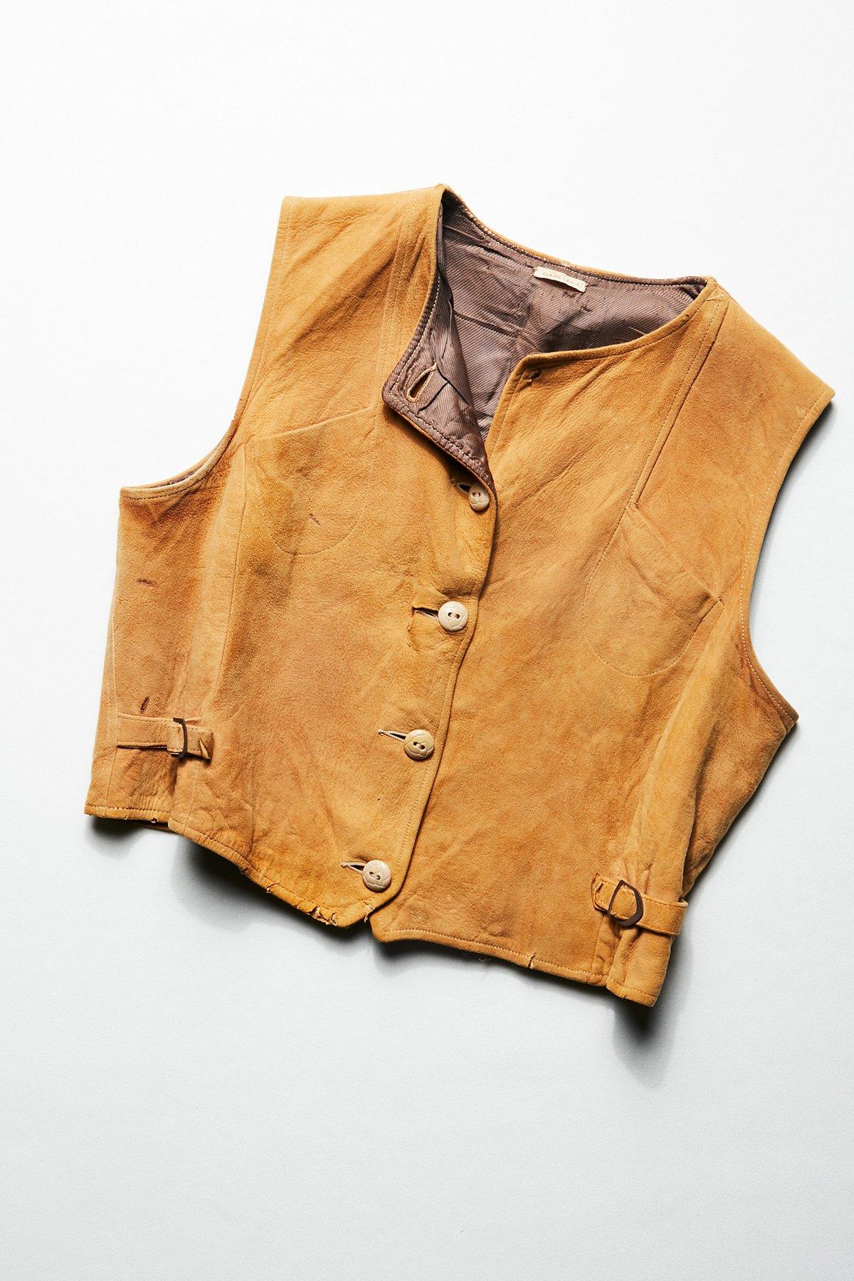 Vintage 1970s Suede Vest
