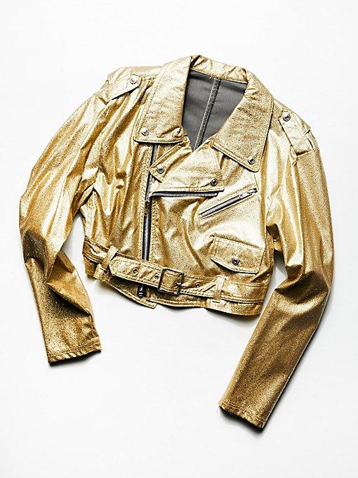 Product Image: Vintage 1980s Gold Dust Moto Jacket
