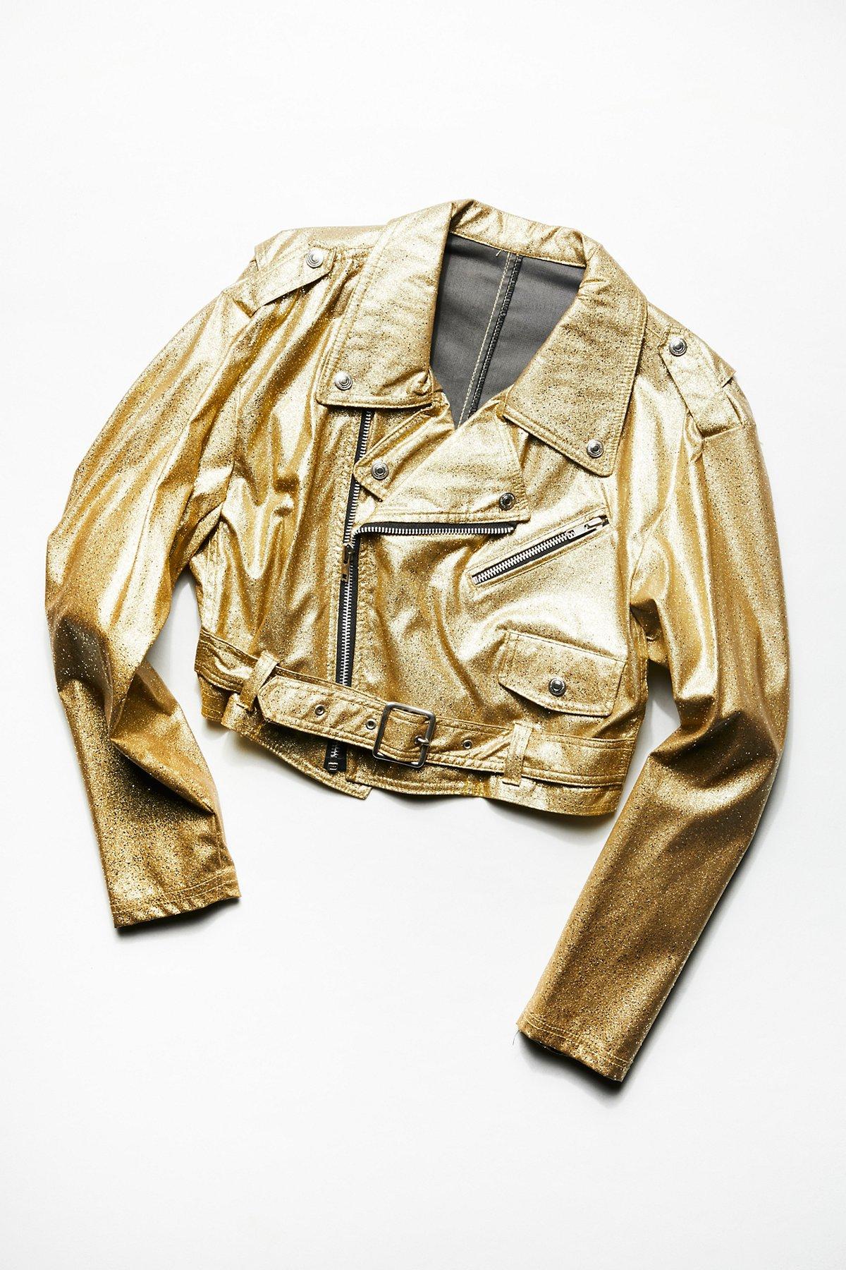 Vintage 1980s Gold Dust Moto Jacket