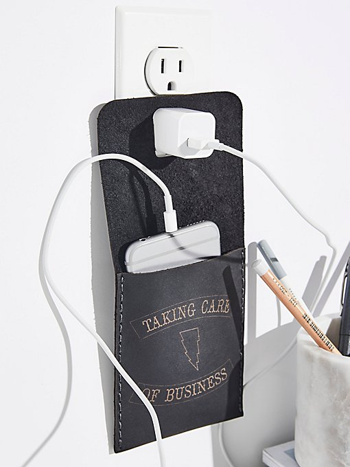 Product Image: Leather Wall Charging Station