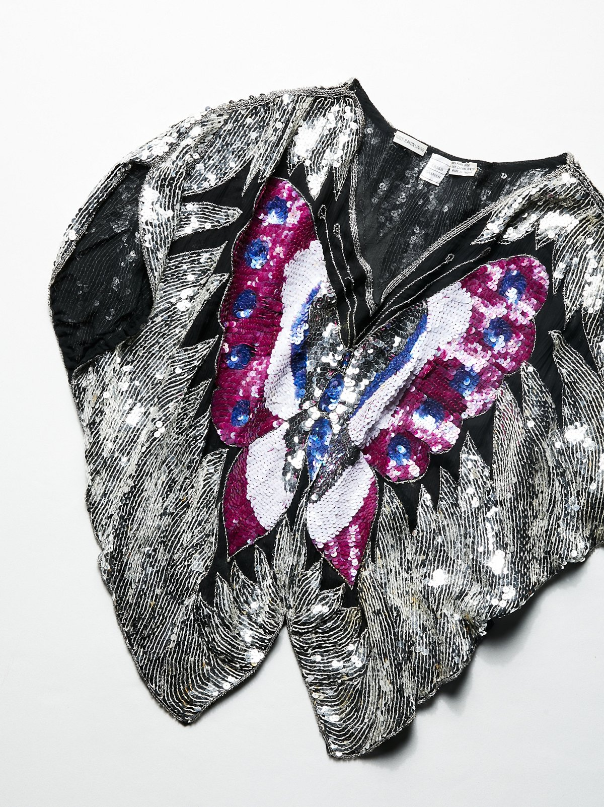 Vintage 1980s Sequin Butterfly Top