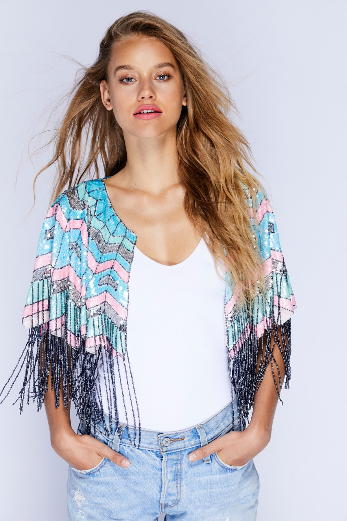 Party All Night Sequin Cape