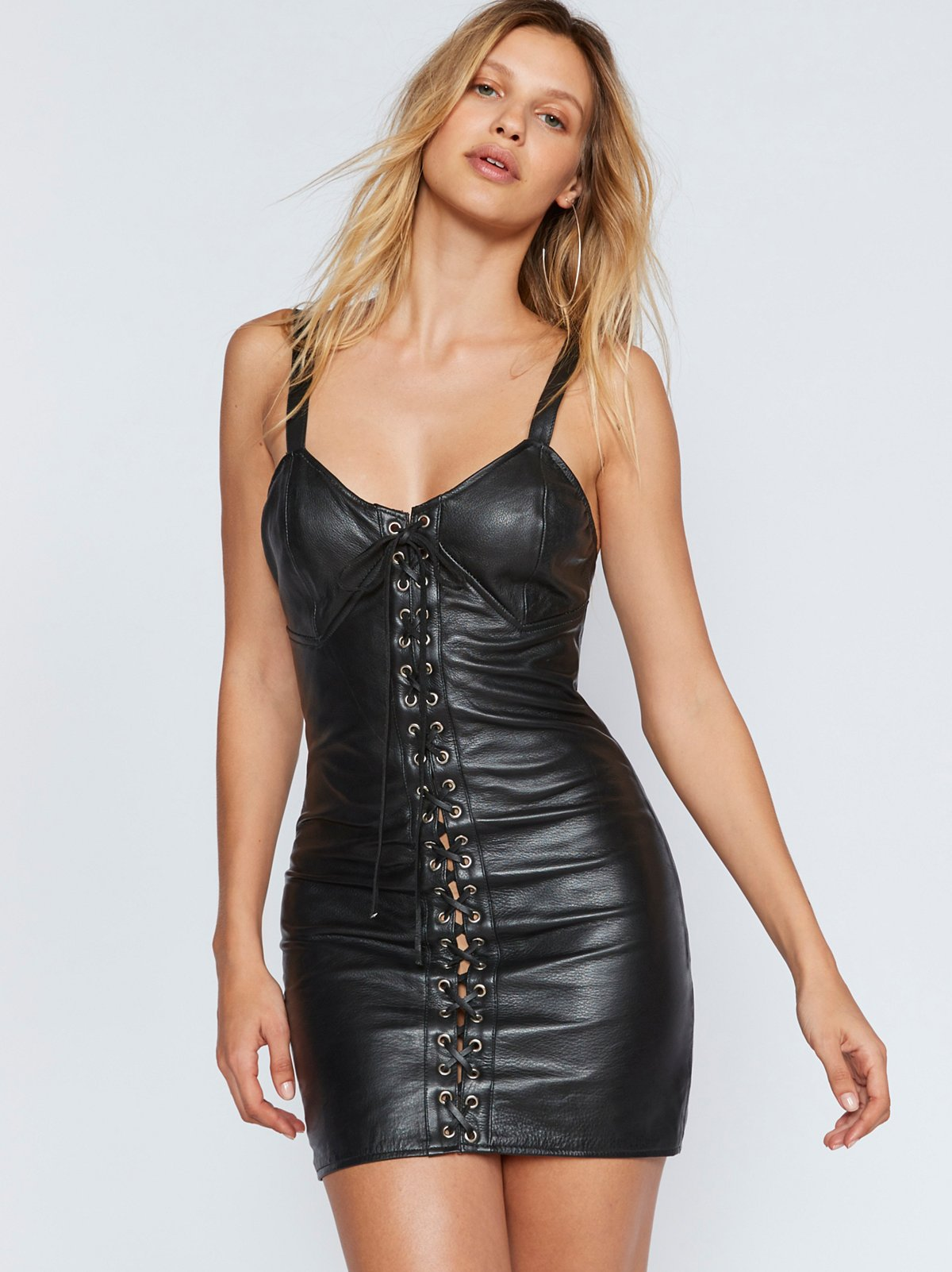 CIty Slicker Leather MIni Dress