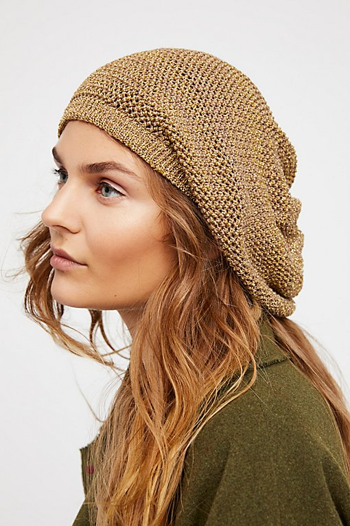 Product Image: Metallic Knit Slouchy Beret