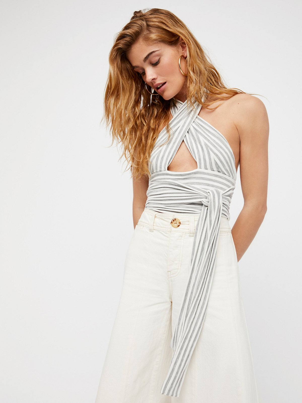 Stripes and Crops Top
