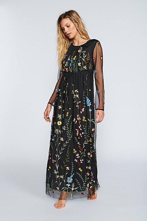 Product Image: Yasmin Embroidered Maxi Dress
