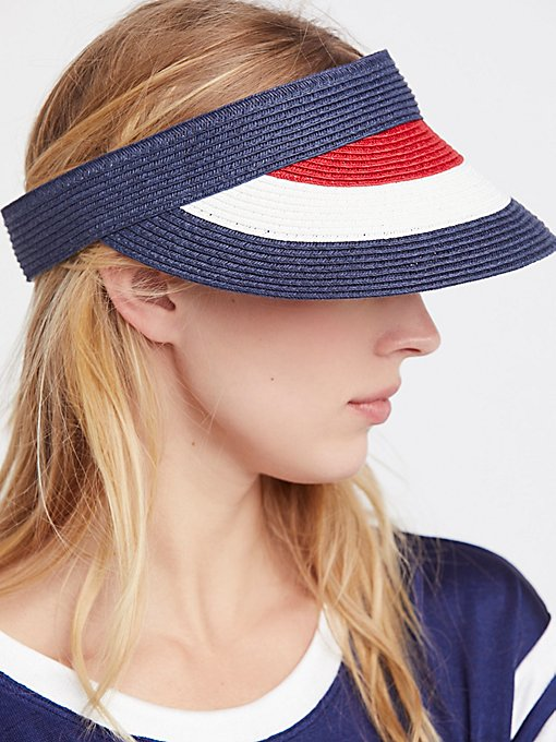 Product Image: Americana Color Block Visor
