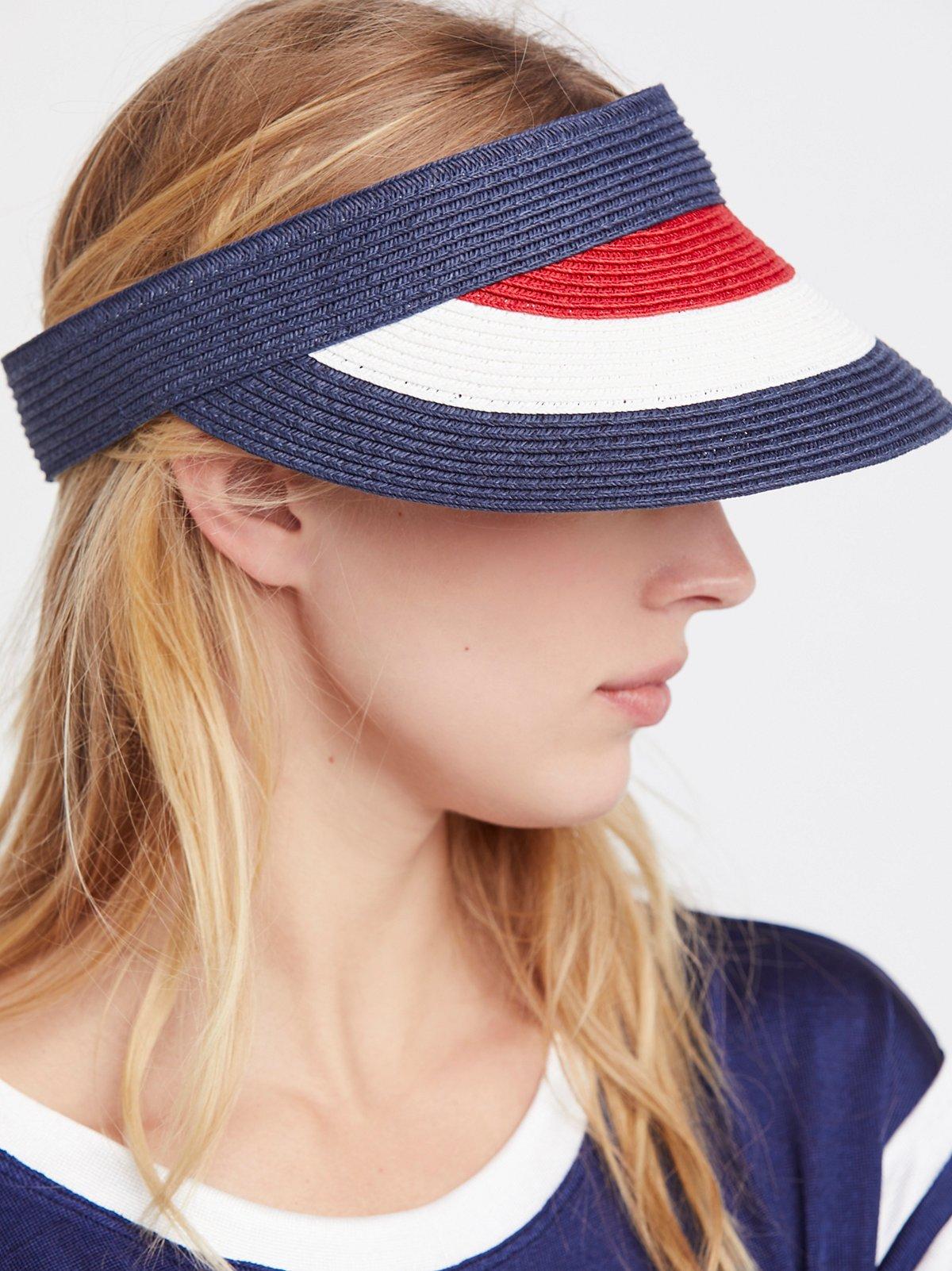 美国风色块遮阳帽