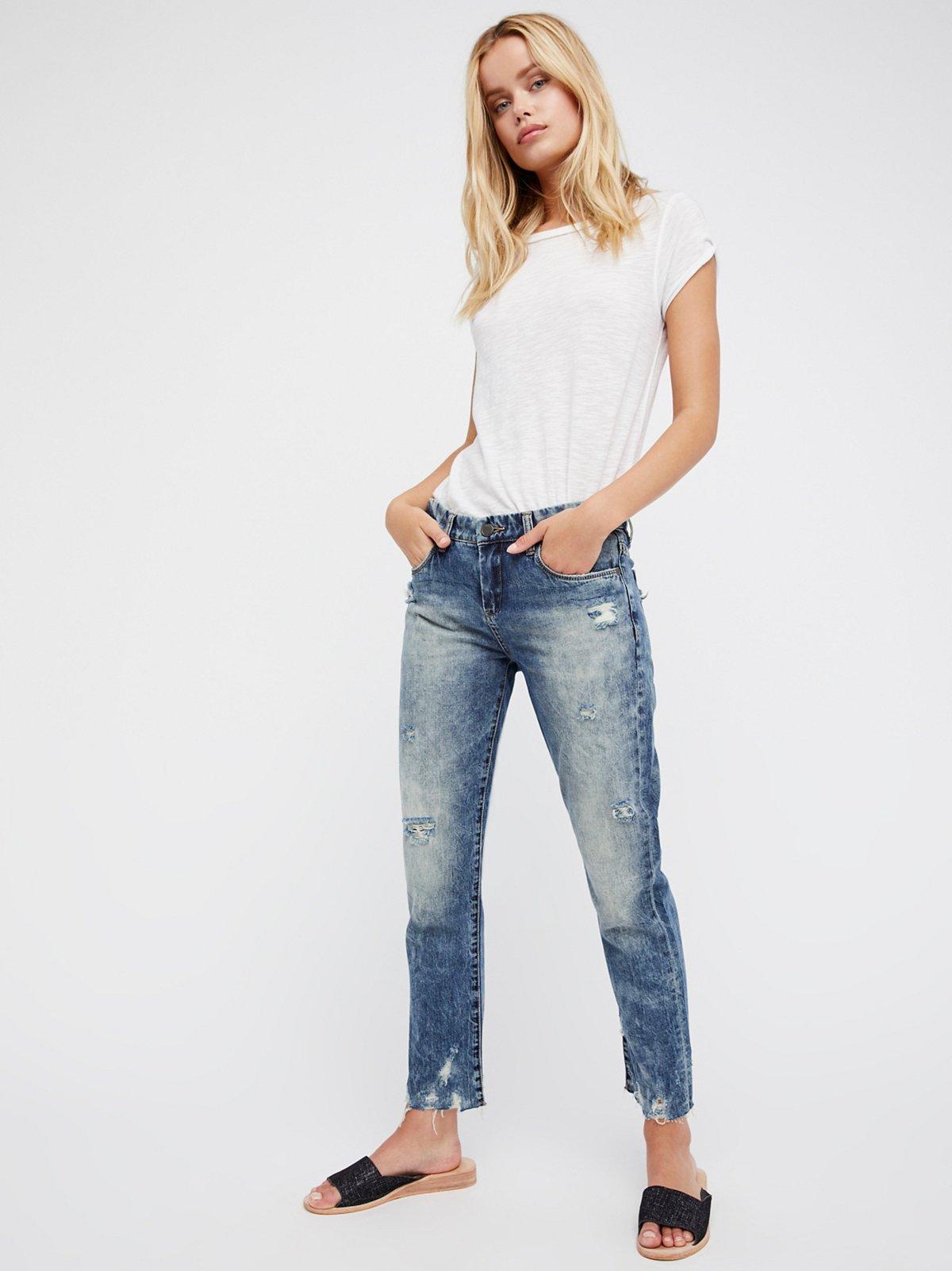 Thrift Score直筒牛仔裤