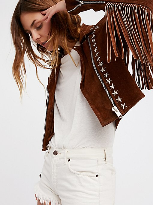 Product Image: Paris Texas Crop Fringe Jacket