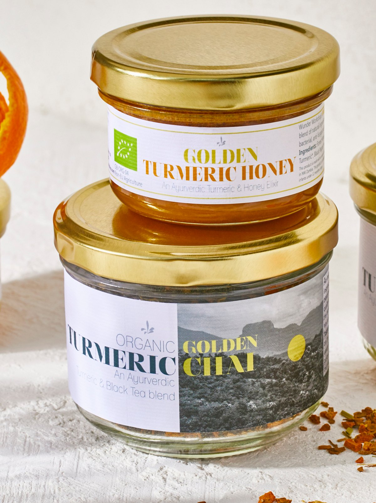 Golden姜黄蜂蜜