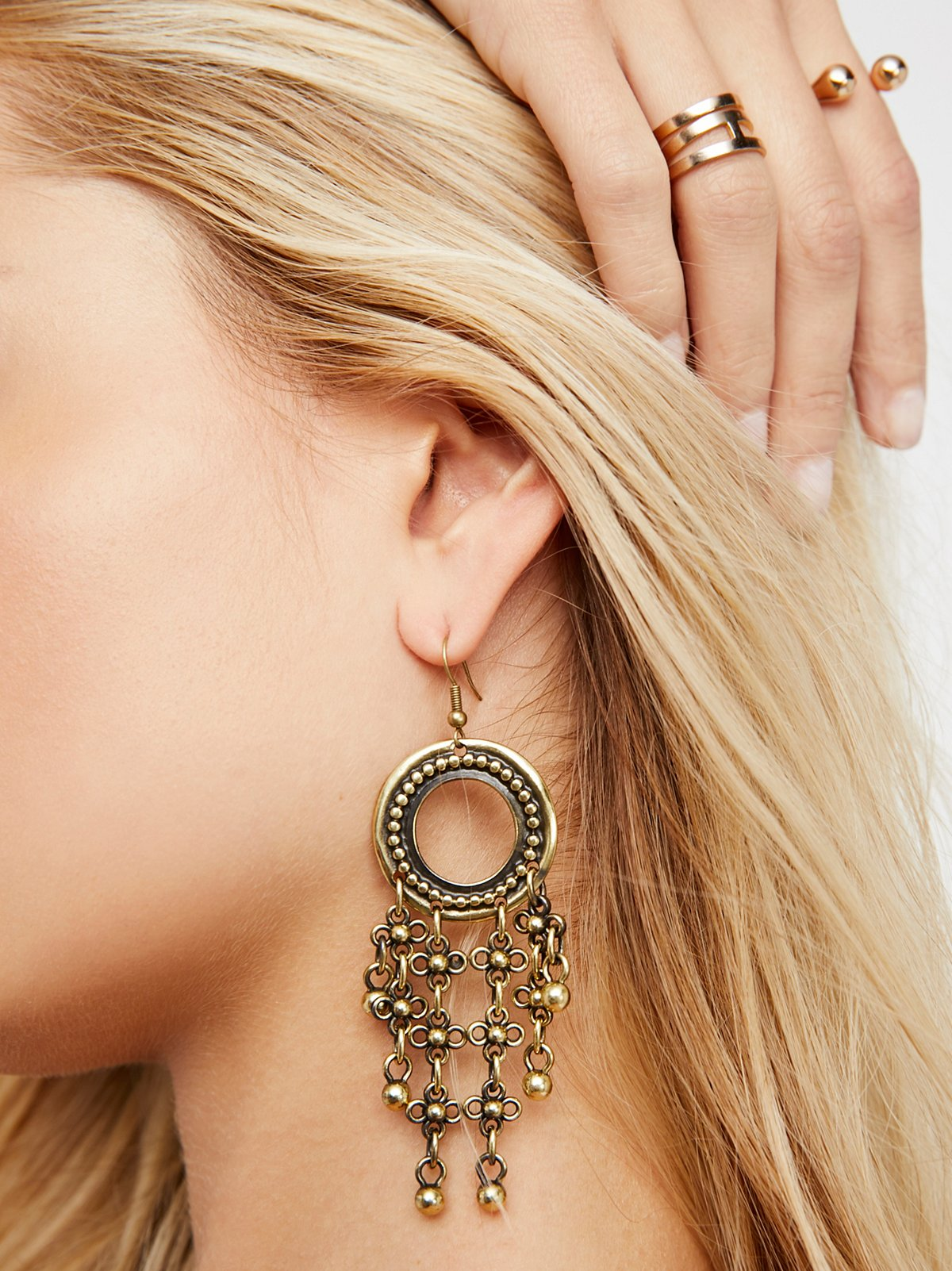 Chainmail Drop Statement Earrings