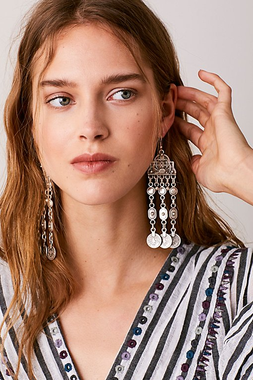 Product Image: Cascading Coin Drop Earrings