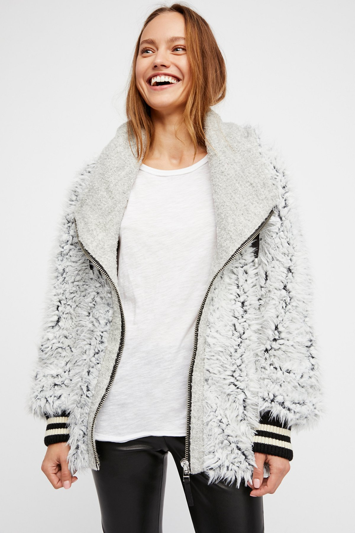 Fluffy Dolman Jacket