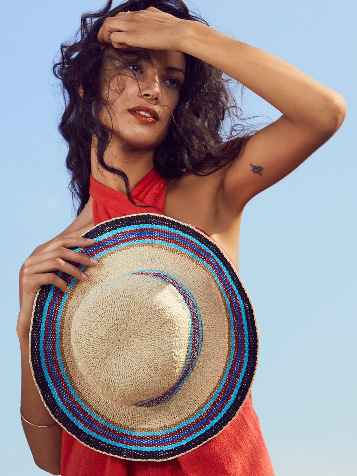Salt Water Stripe Straw Hat