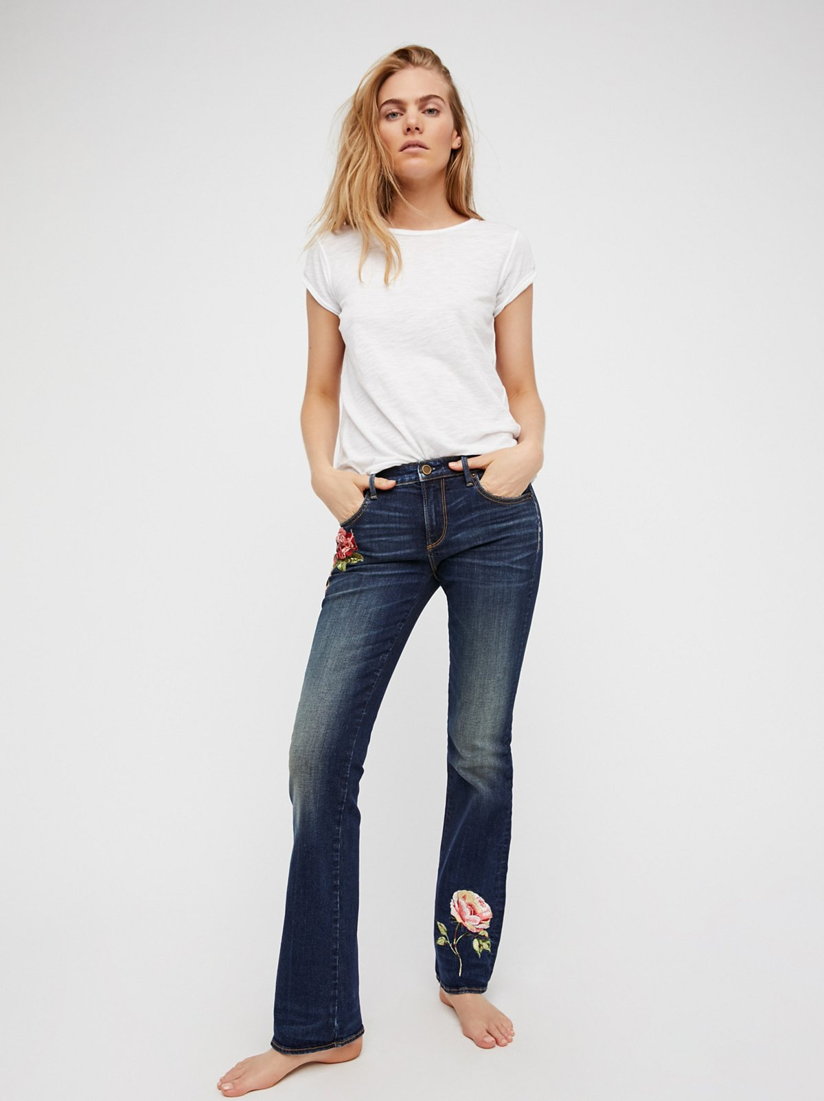 Kelly Embroidered Baby Bootcut Jeans