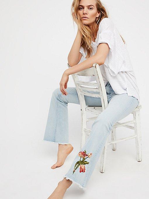 Product Image: Eva刺绣喇叭裤