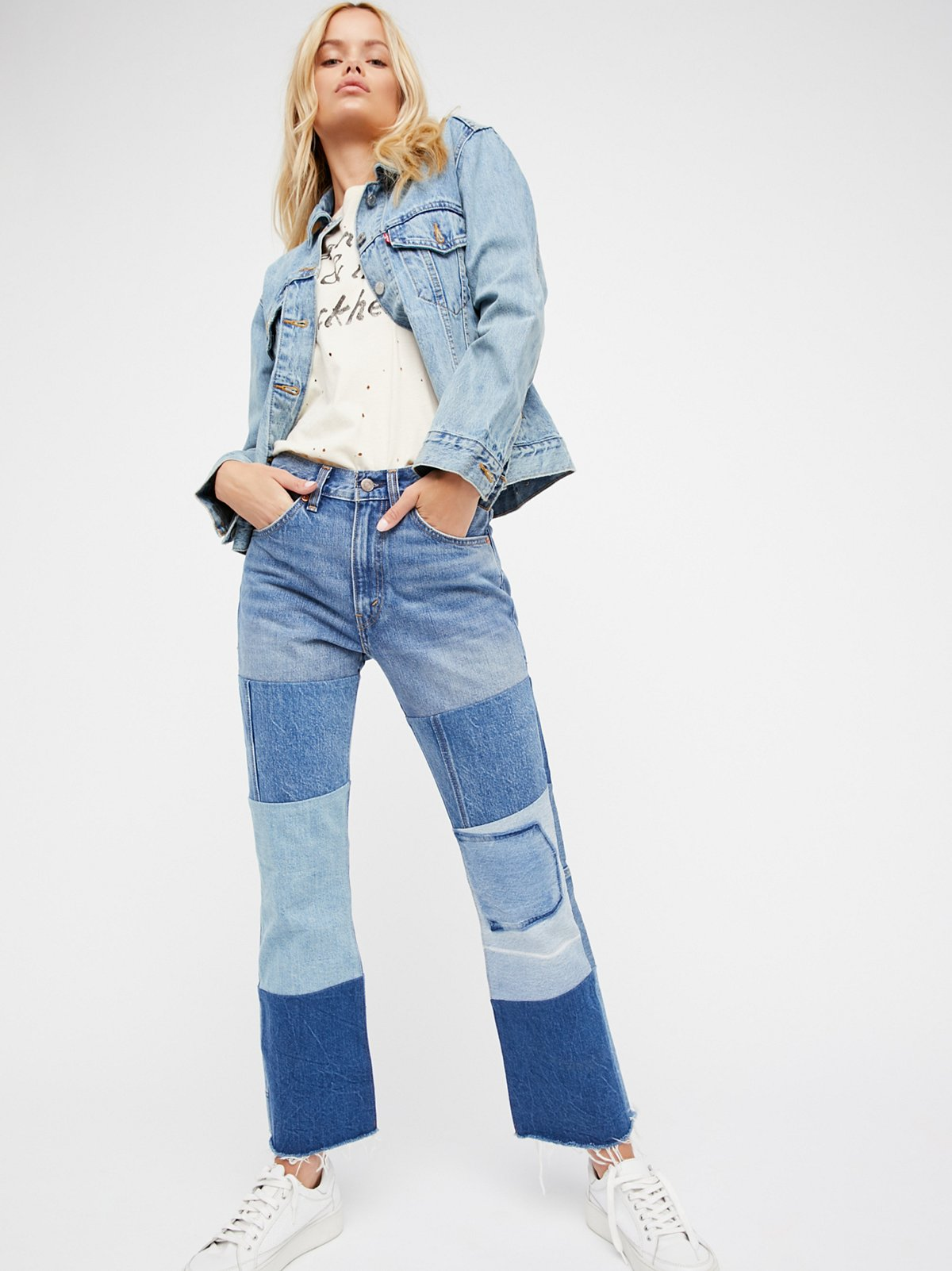Levi's 517 Patched Boot Jeans