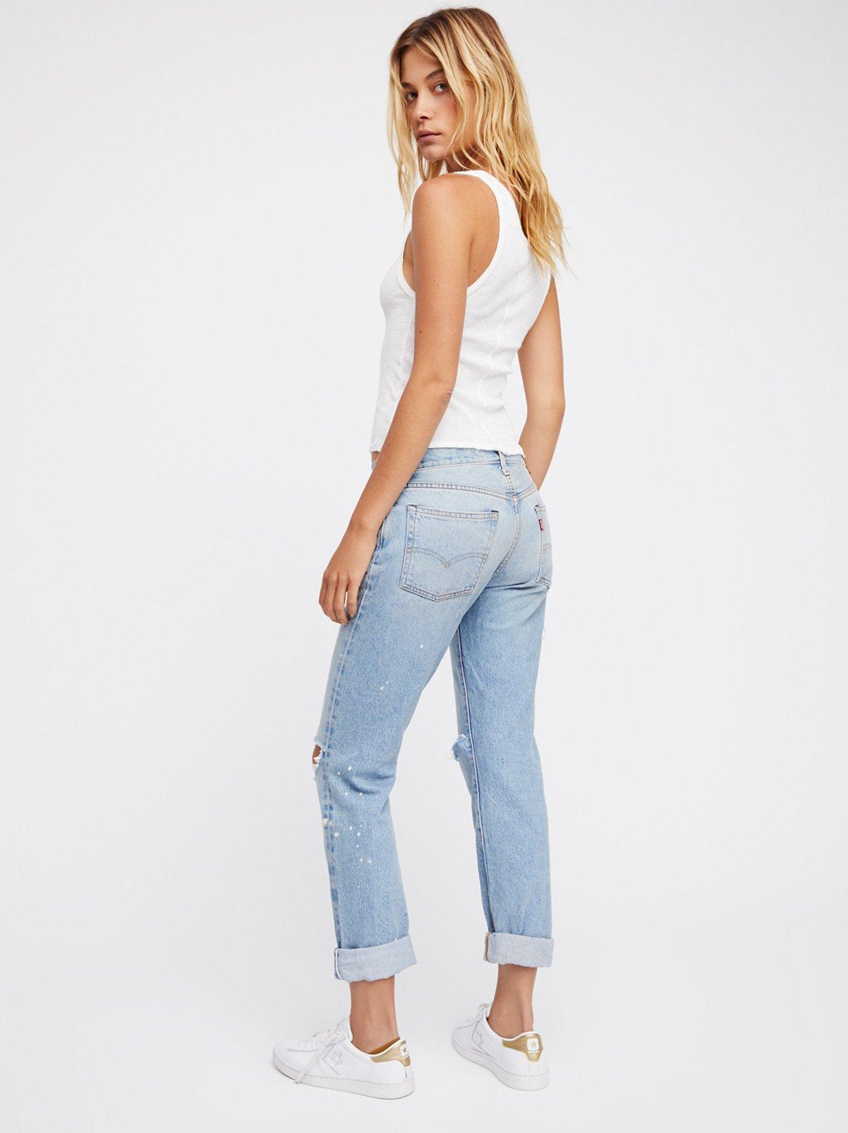 501 Original Distressed Jeans