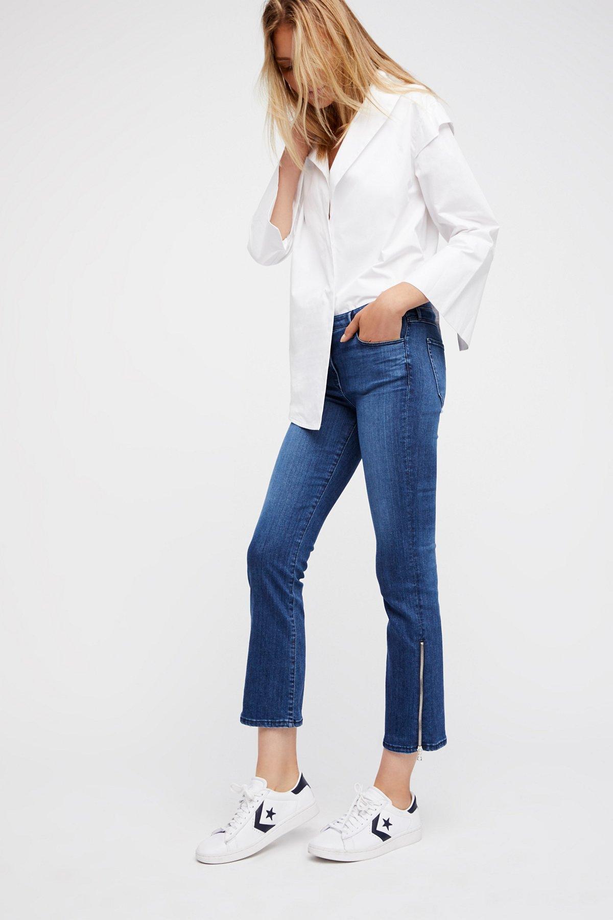 Midway Gusset Zipper Crop Jeans