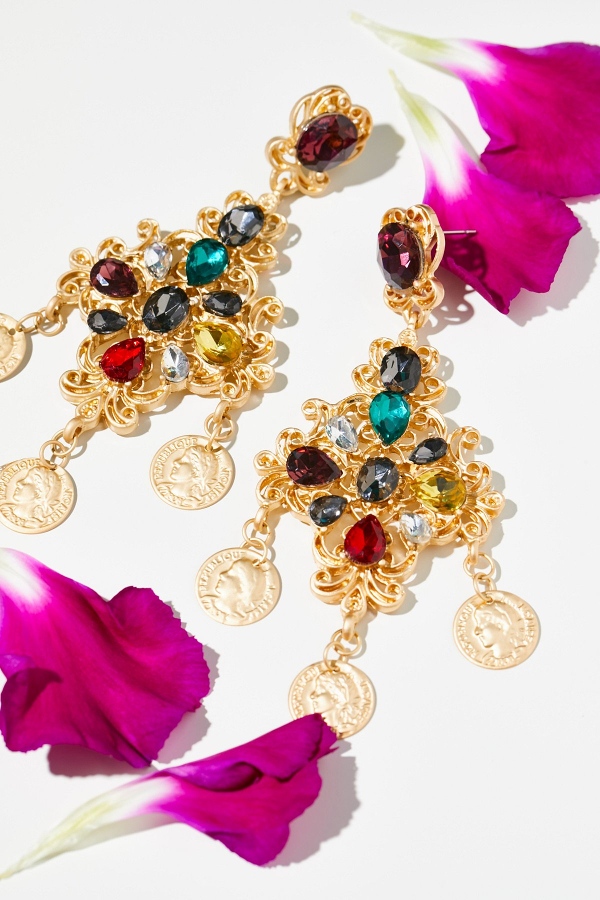 Baroque Statement Earrings