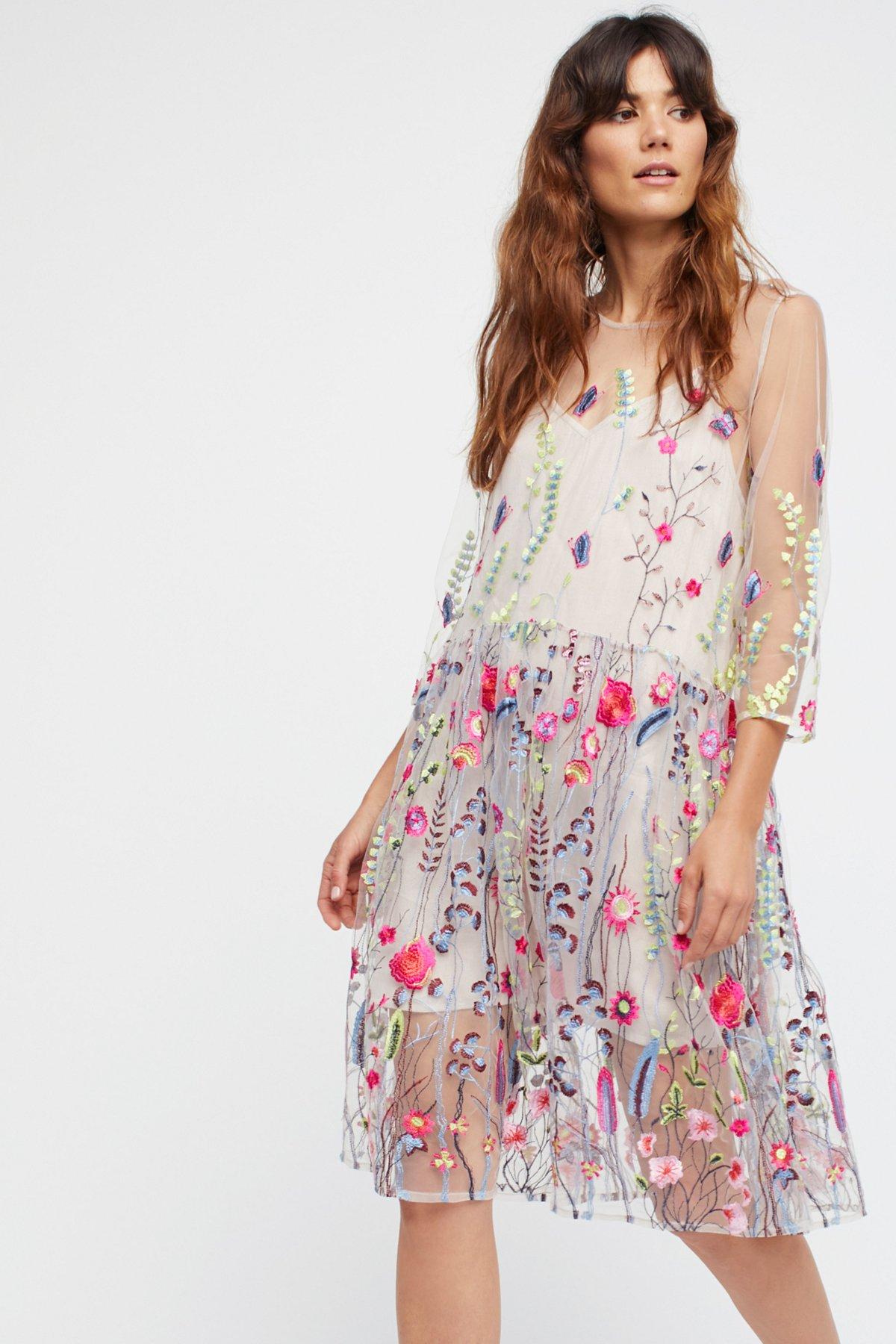 Sheer Garden Mini Dress