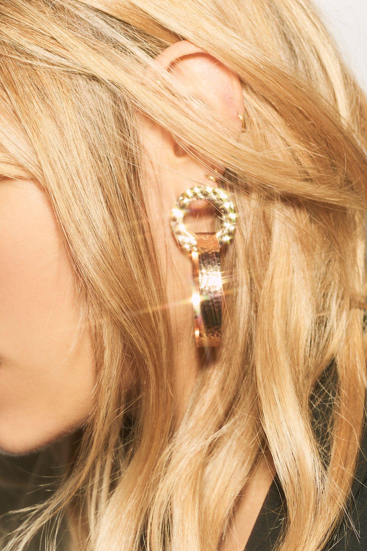 Lizzie双环耳圈