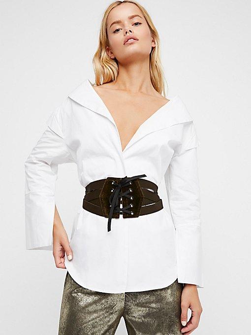Product Image: 天鹅绒系带束腹腰带