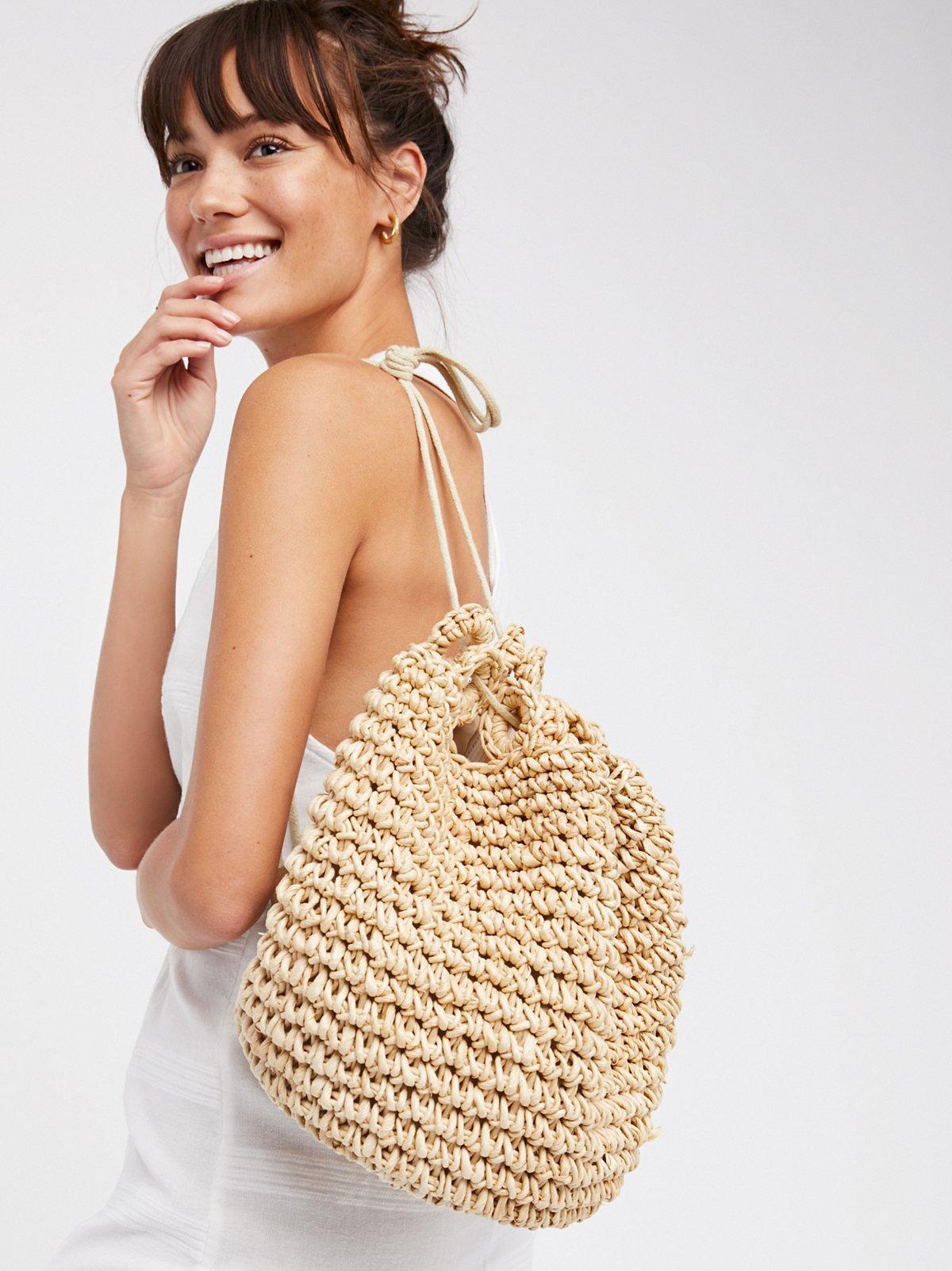 Getaways Straw Backpack
