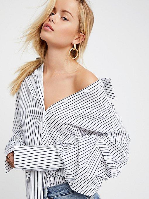 Product Image: Stripe Bardot Top