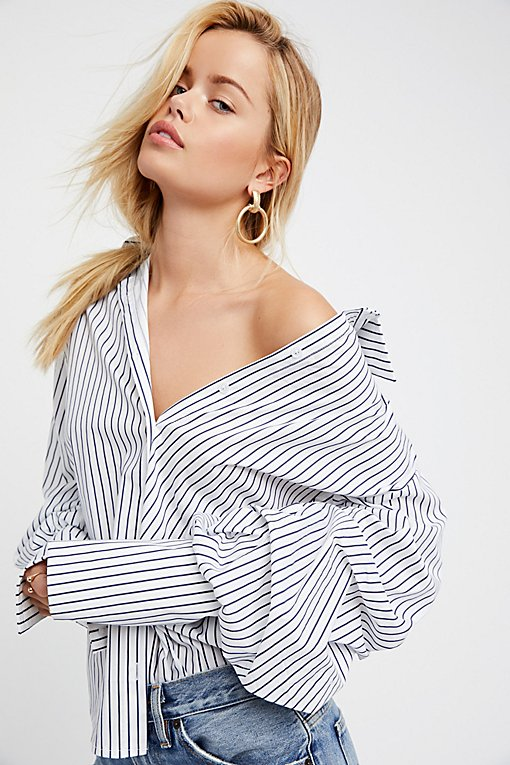 Product Image: Stripe Off-The-Shoulder Top